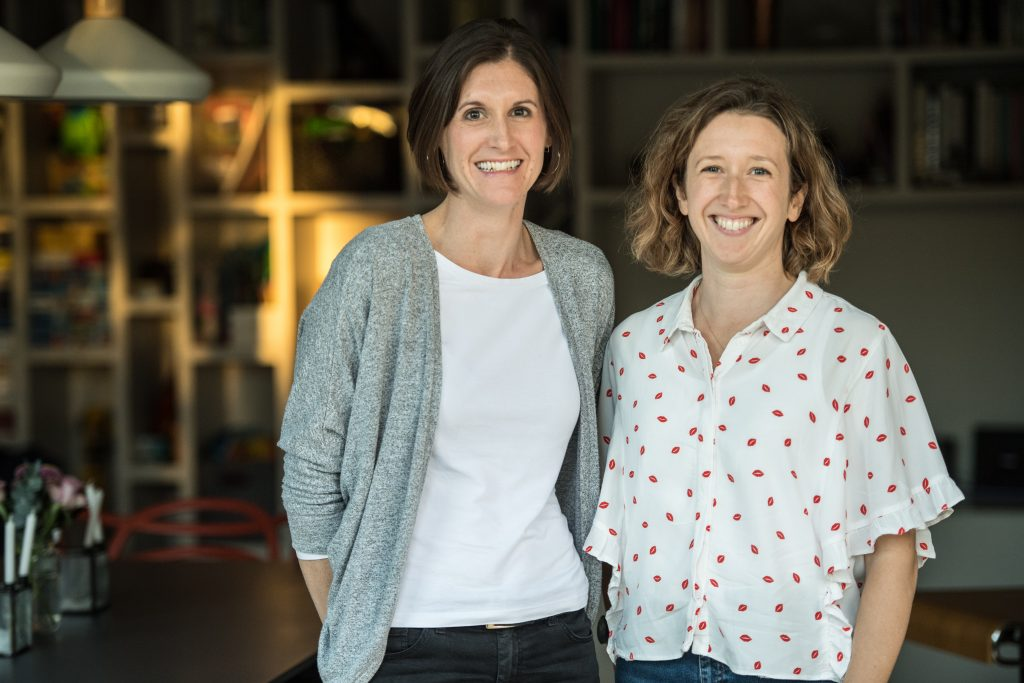 Emily Bright and Sarah Campbell, two women in business who founded Parrot Street.