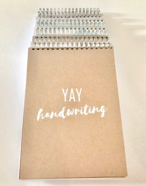 Children's handwriting help. Notebooks by Little Writing Company