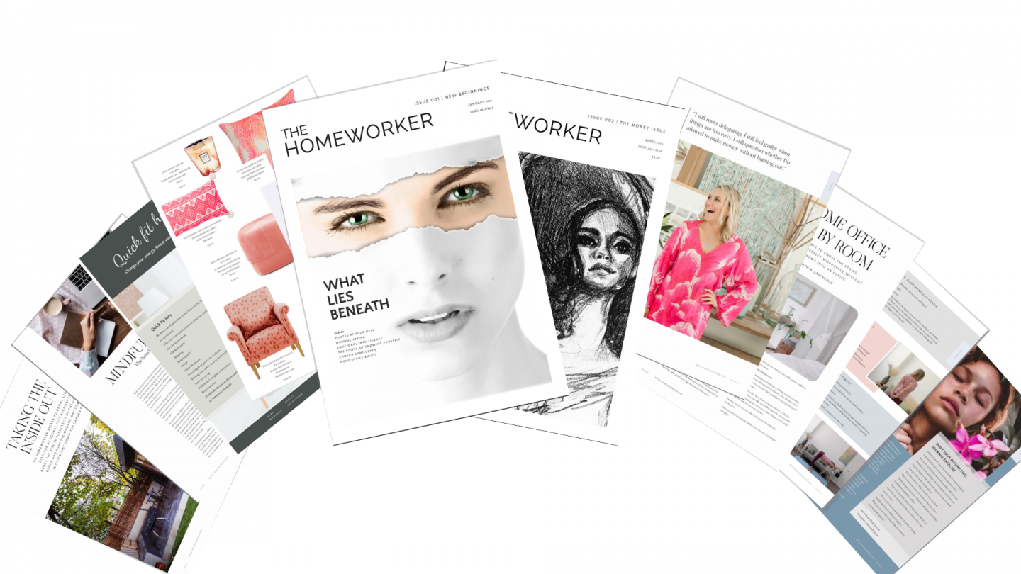 the homeworker magazine, working from home, productivity, mindset, interior decor, wellbeing