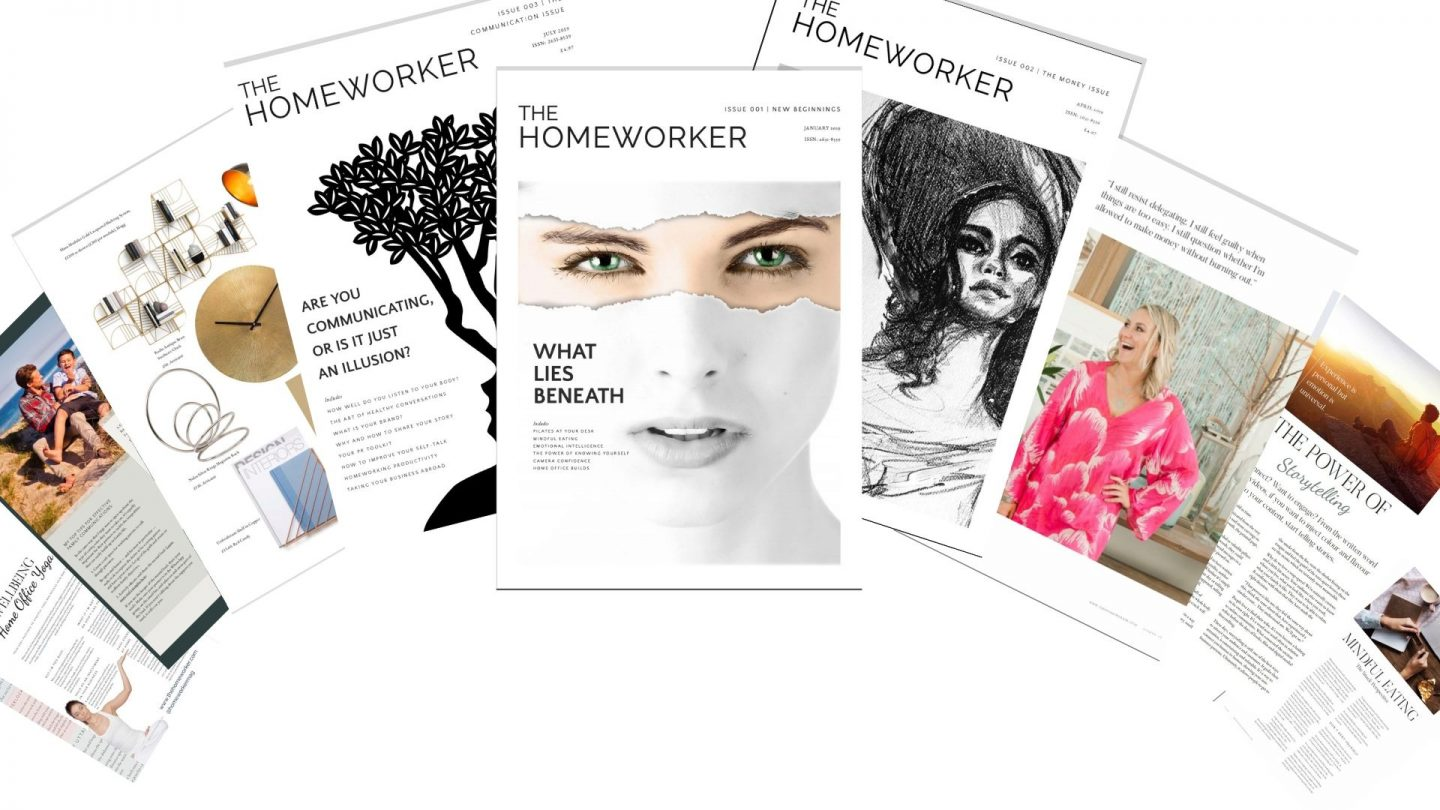 The Homeworker magazine, productivity, time management tips, wellbeing, selfcare tips when working fro home