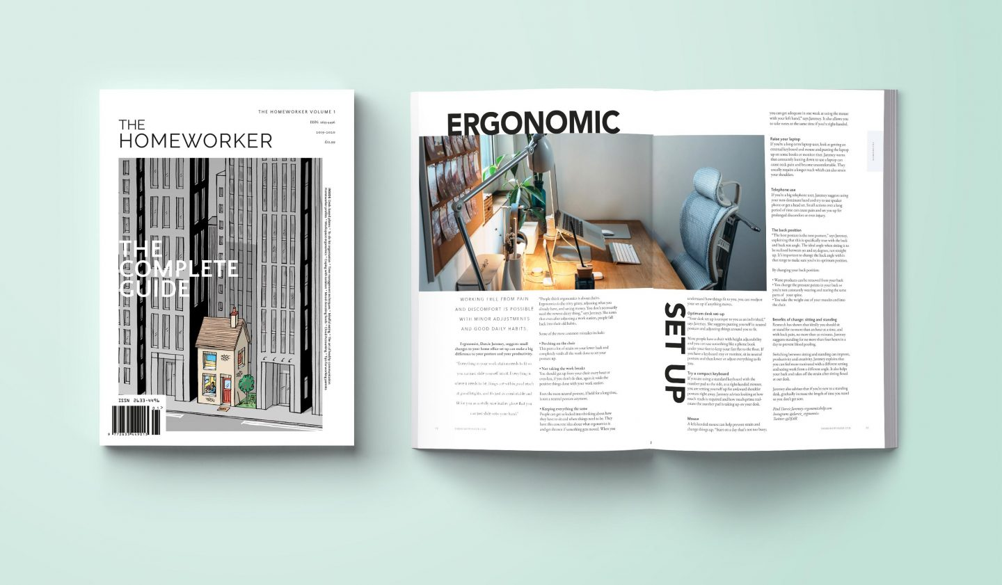 the homeworker magazine print, work from home guide