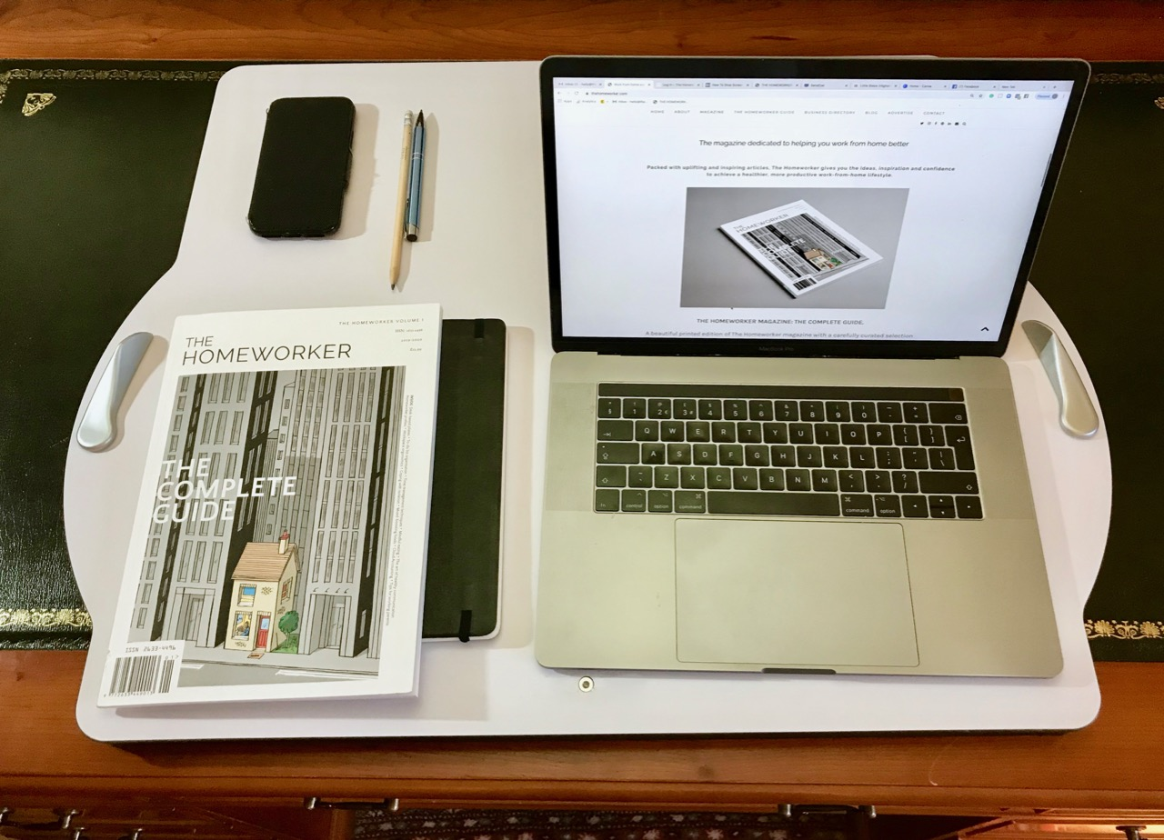 the homeworker magazine, review of The Opløft desk. Lowered position