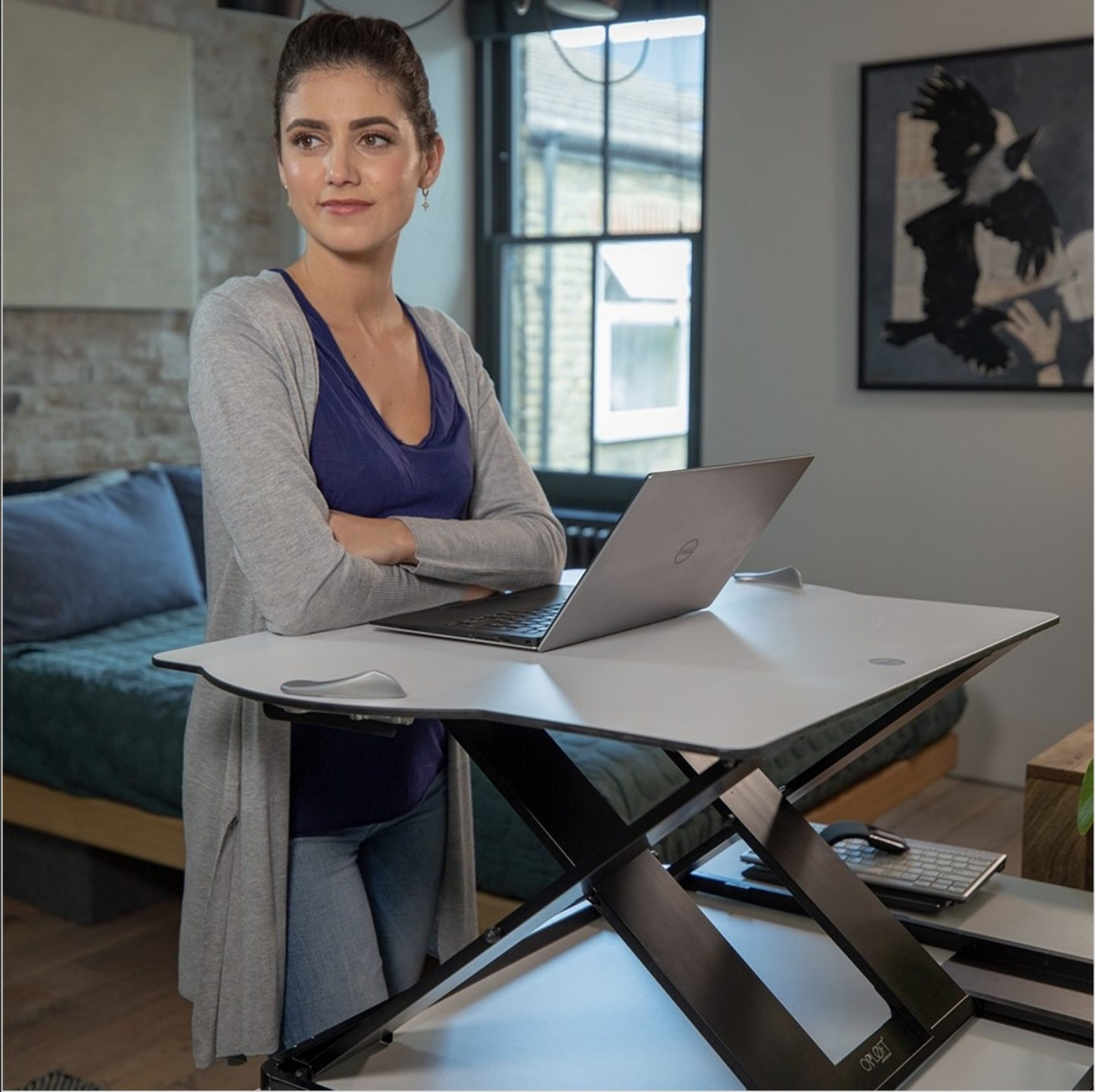 benefits of a standing desk by The Homeworker - review of Oploft sit-stand desk by Posturite