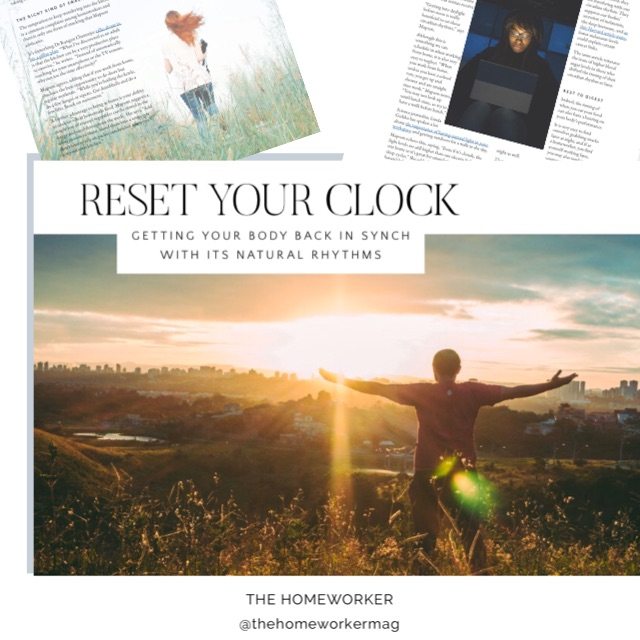 the homeworker magazine article about natural biorhythms