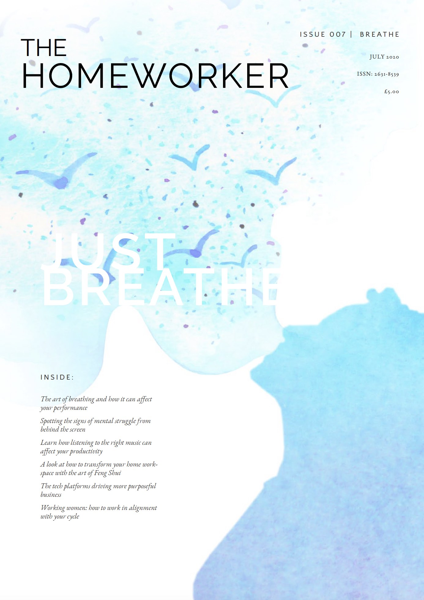 The Homeworker Magazine Breathe issue cover