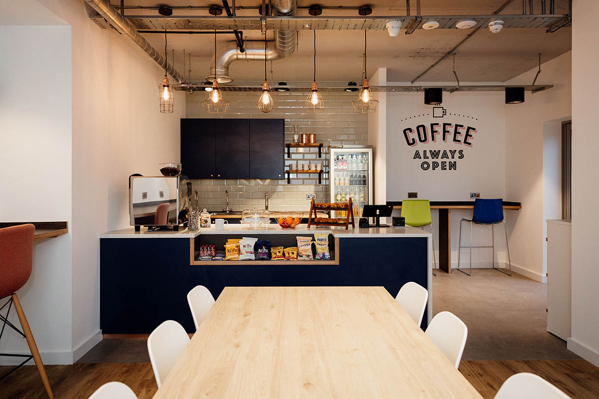 cafe facilities are a benefit of coworking spaces