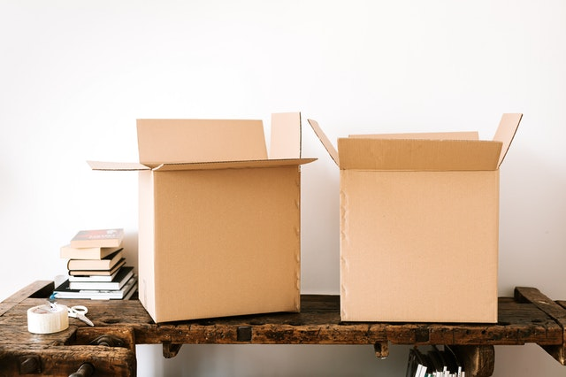 Work from home when moving home hacks - the grab box.