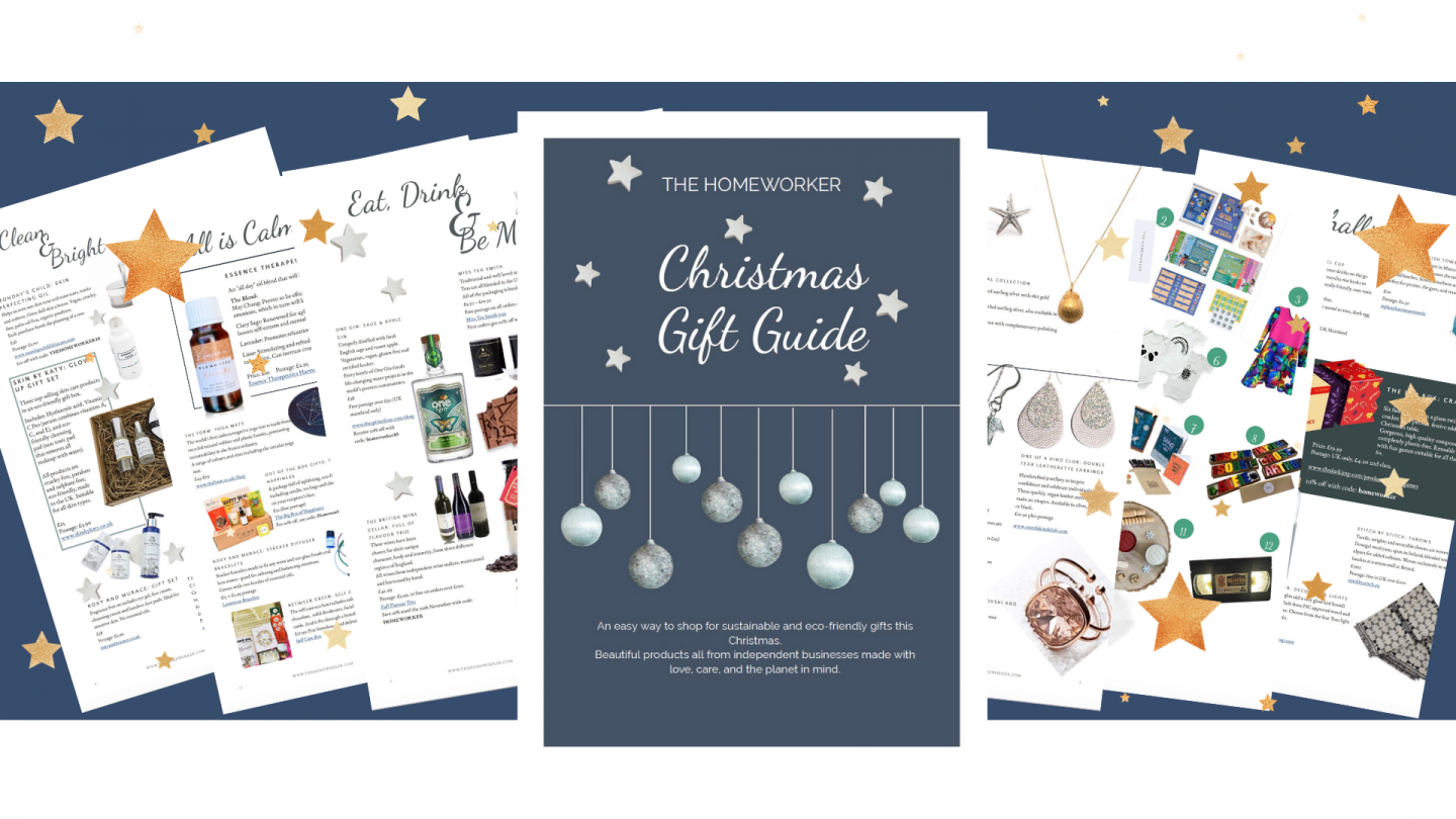 Eco-friendly, sustainable Christmas gifts in The Homeworker Christmas Gift Guide