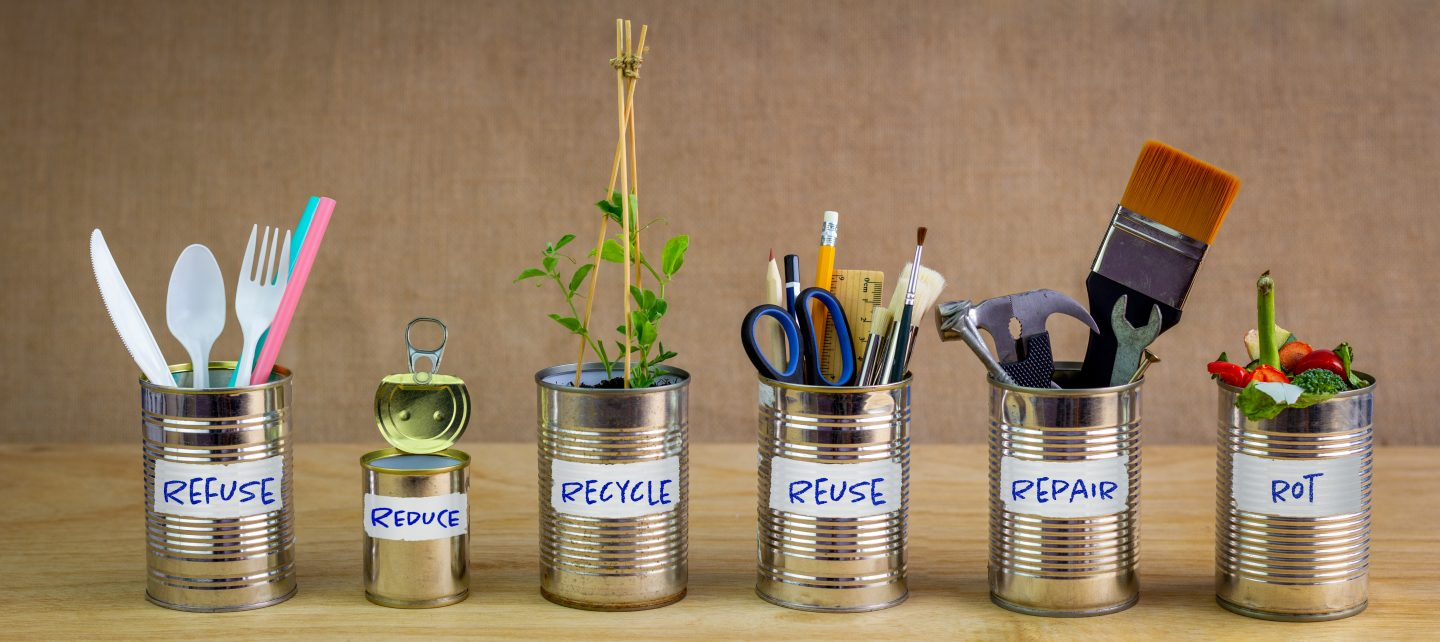 sustainable waste management recycle reuse reduce, sustainable practises at home