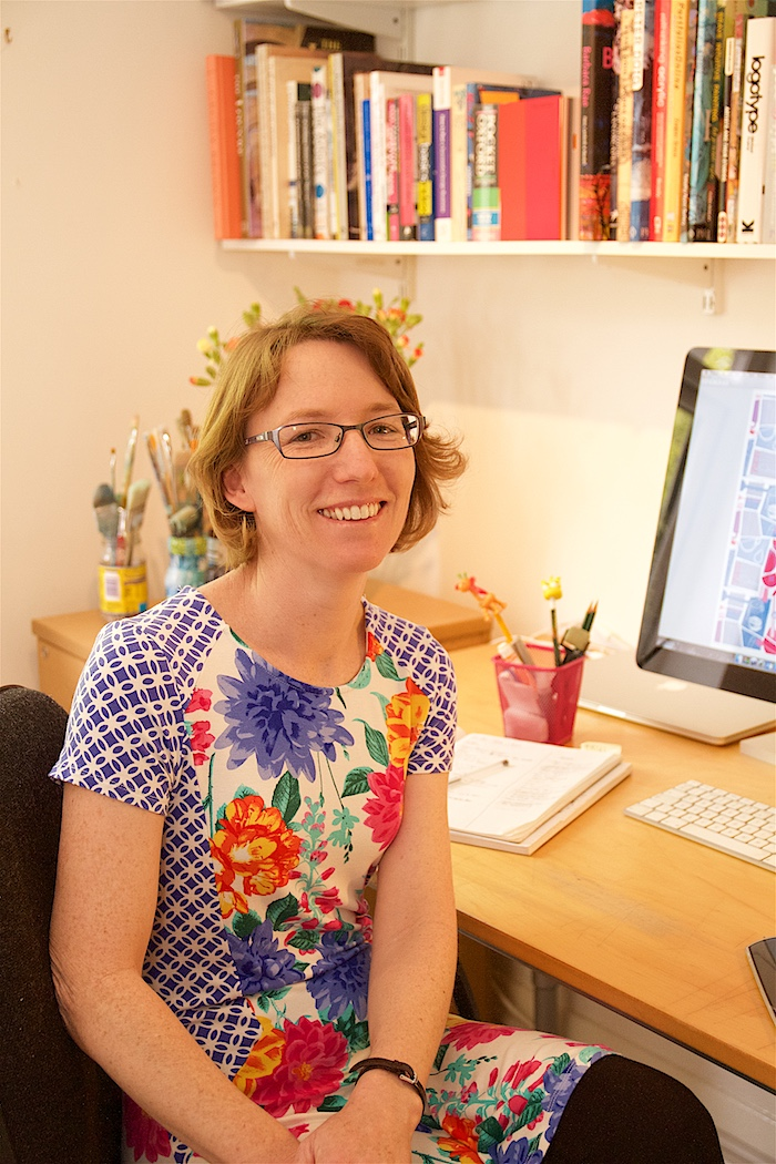 Catherine Charnock designer, offers work from home tips from around the world