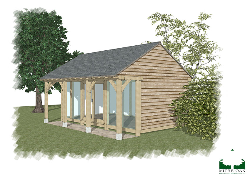 garden office ideas, The Elgar design by Mitre Oak