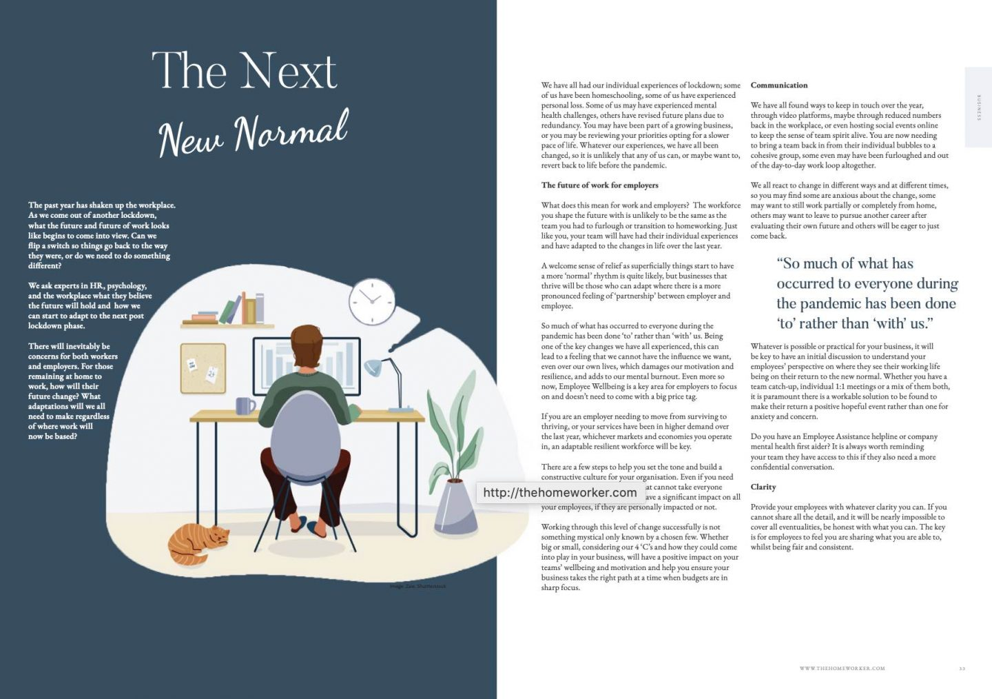 how workplaces transition to the next phase of life post lockdown The Homeworker magazine article