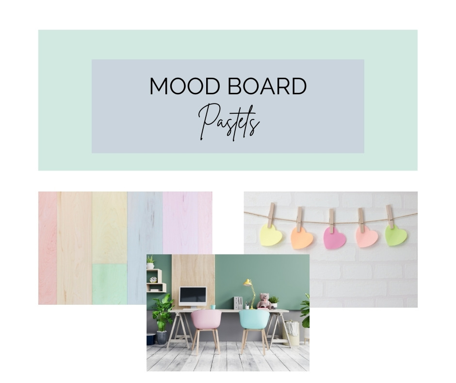 MOOD BOARD PASTEL HOME OFFICE IN SUB LOUNGE