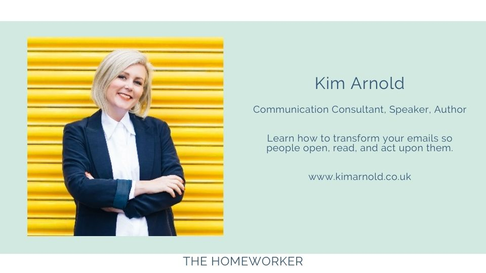 email tips with Kim Arnold on The Homeworker